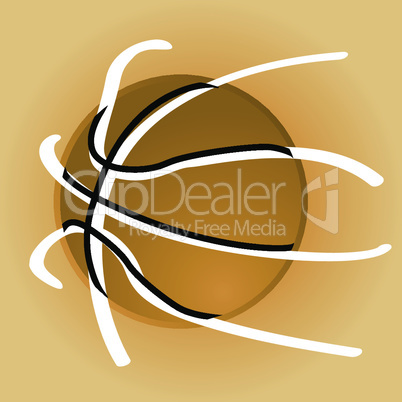 Stylish basketball