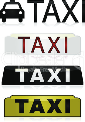 Taxi signs
