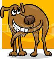 dog chasing tail cartoon illustration