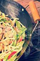 china wok- vintage style
