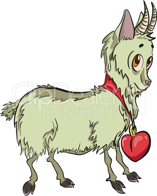 little goat with heart.eps