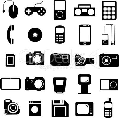 Multimedia symbols.
