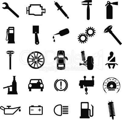 car symbols.