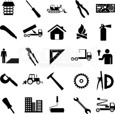 Construction symbols.
