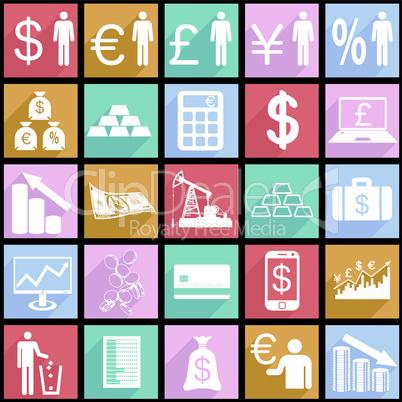 Finance symbols.