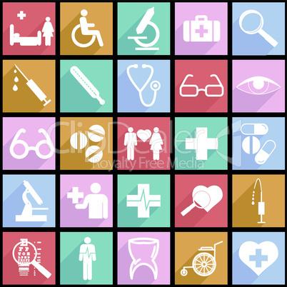 medicine symbols.