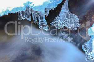 icicles and milky stream