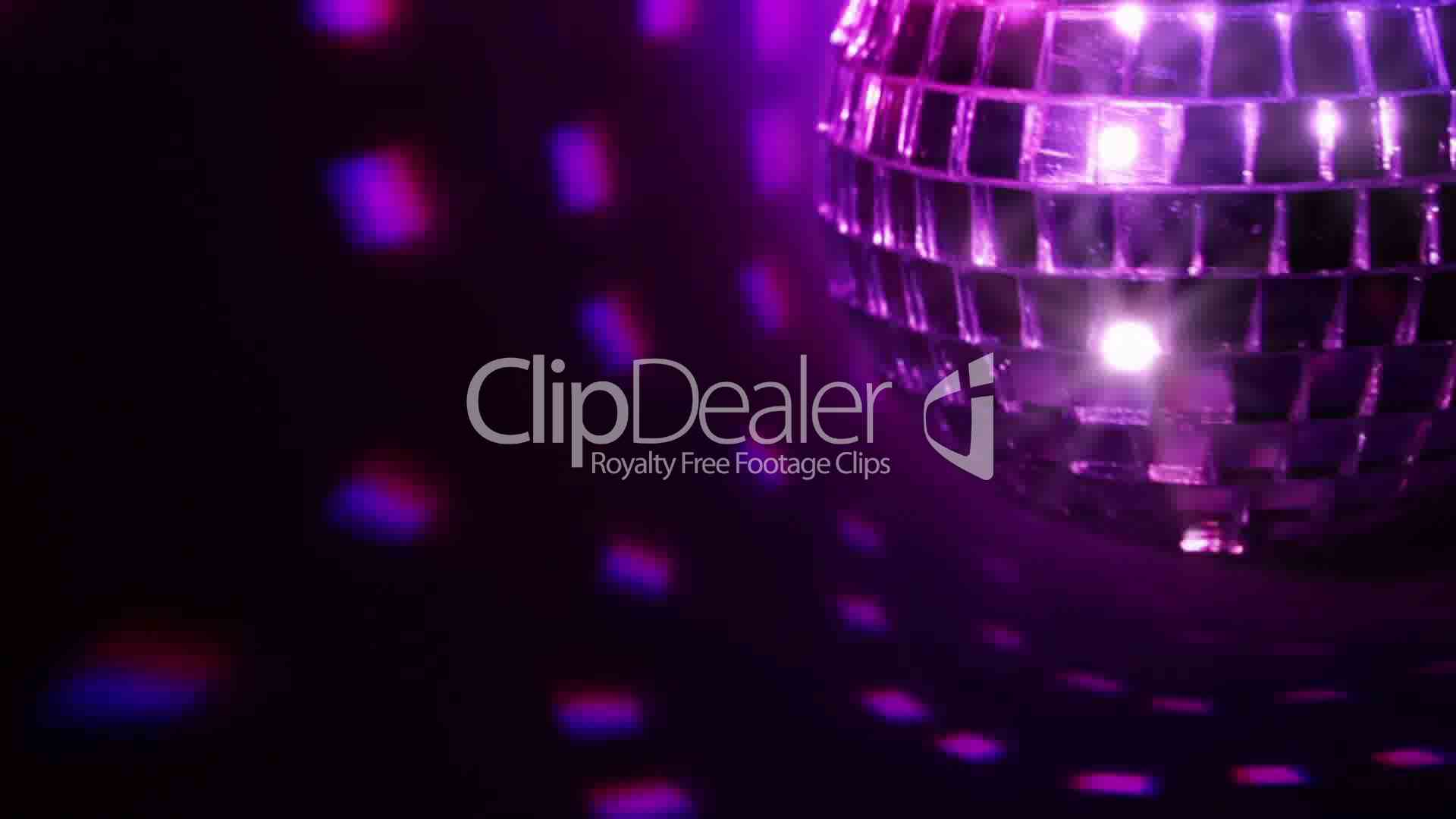 Dark background and disco ball  Seamless loop: Royalty-free