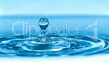 drop in water