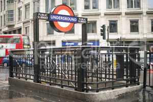 london underground station entrance