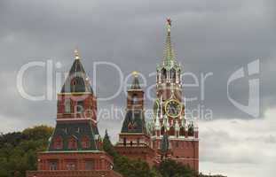 Russia, Moscow Kremlin towers