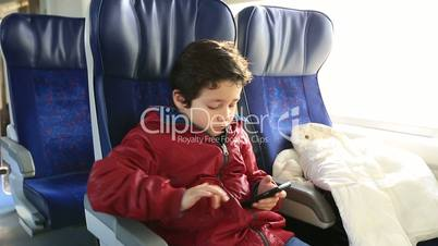 kid boy with smartphone