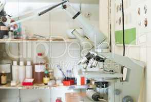 veterinary laboratory.