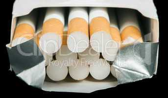 box of cigarettes close up