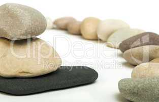 stacked stones white isolated