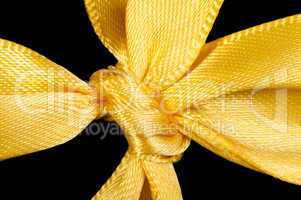 yellow ribbon and knot isolated