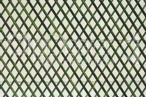 green wooden lattice wall