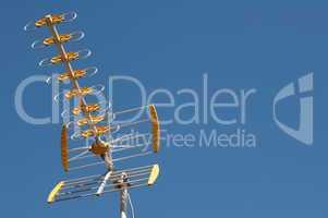 antenna on a blue sky