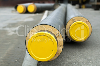 pipes for hot water and steam heating
