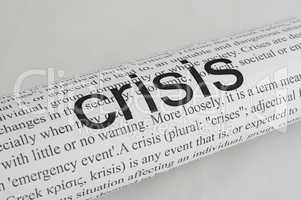 typed text crisis on paper