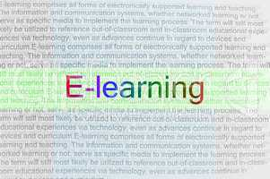 typed text e-learning on paper