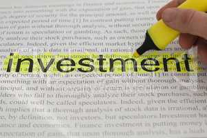typed text investment yellow marked