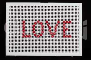 text love on child mosaic