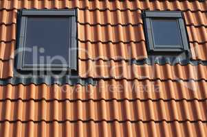 Dormers on a tiled roof