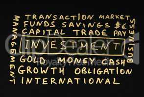 Investments conception