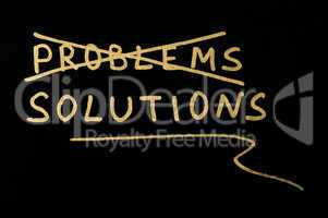 Problems and solutions concept