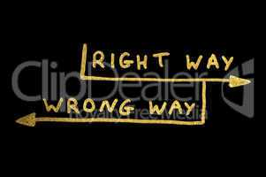 Wrong and right way conception texts