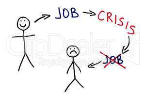 Job and crisis conception illustration