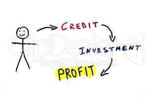 Credit and investments conception illustration