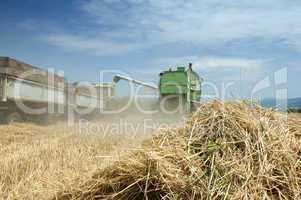 Tractor and combine harvesting