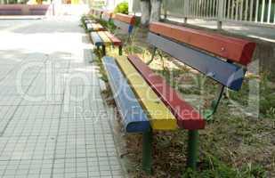 Multicolor benches