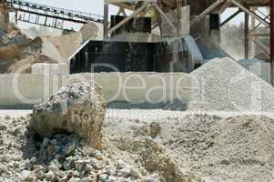 Stone quarry of limestone