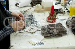 Handmade manufacture of footwear