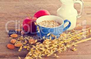 dry muesli mix - vintage style
