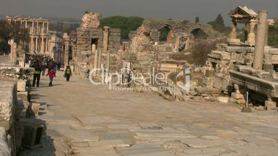 Ancient road in  Ephesus Turkey