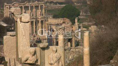 Ancient city Ephesus arial shoot