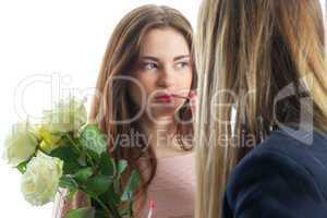 Mädchen schminken