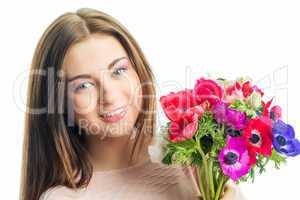 Mädchen mit Mohnblumen