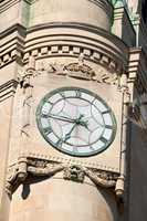 Clock of Canadian Central Post Office in Ottawa