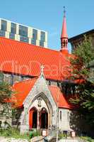 red roof church in Montreal