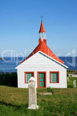 old church and cemetery of tadoussac