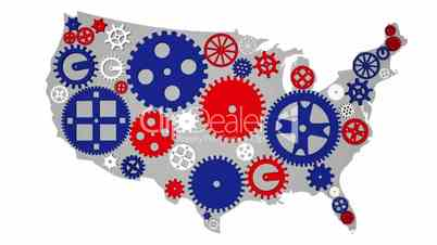 USA Country Economy Gears