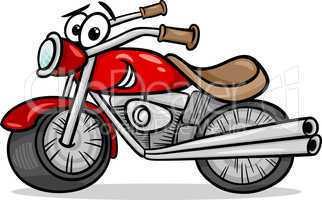 bike or chopper cartoon illustration
