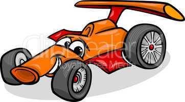 racing car bolide cartoon illustration