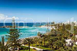 Hotel beach in Cyprus