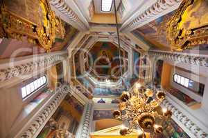 Interior of St Basils Cathedral in Moscow